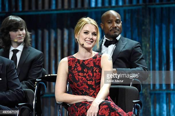 "Alexandra Breckenridge attends AMC's ""The Walking Dead"" season 6 fan premiere event at Madison Square Garden on October 9, 2015 in New York City."