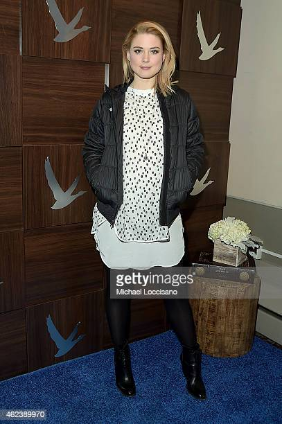 Alexandra Breckenridge attends the 'Zipper' cast party at GREY GOOSE Blue Door during Sundance on January 27 2015 in Park City Utah