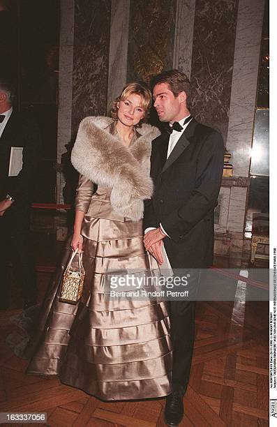 Alexandra Bronkers and husband at The Sixth Night Of Internationale De L' Enfance In Paris 1998