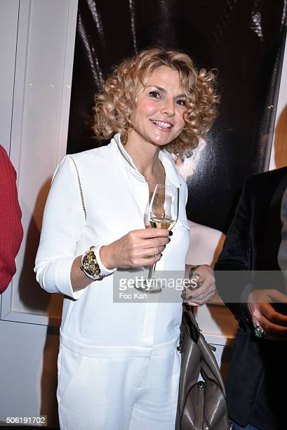 Alexandra Bronkers attends the Mireille Darc Photo Exhibition Preview at Artcurial on January 21 2016 in Paris France