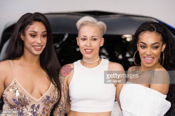 Alexandra Buggs Courtney Rumbold and Karis Anderson from Stooshe attend the global premiere of 'Transformers The Last Knight' at Cineworld Leicester...