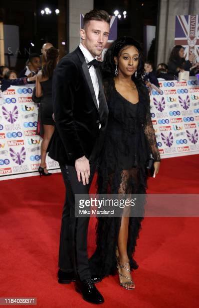 Alexandra Burke and Angus MacDonald attend Pride Of Britain Awards 2019 at The Grosvenor House Hotel on October 28 2019 in London England
