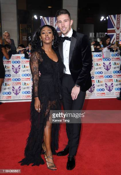 Alexandra Burke and Angus MacDonald attend the Pride Of Britain Awards 2019 at The Grosvenor House Hotel on October 28 2019 in London England