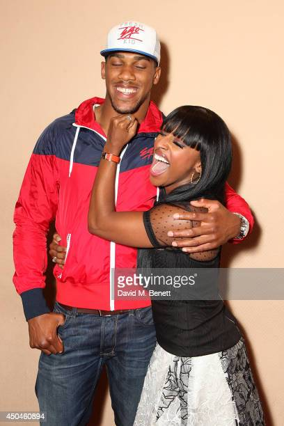 Alexandra Burke and Antony Joshua after her first performance of 'The Bodyguard' at Adelphi Theatre on June 11 2014 in London England