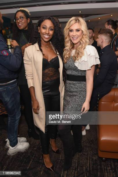 Alexandra Burke and Camilla Kerslake attend celebrations for Magic Mike Live's first birthday in the West End at Hippodrome Casino on November 06...