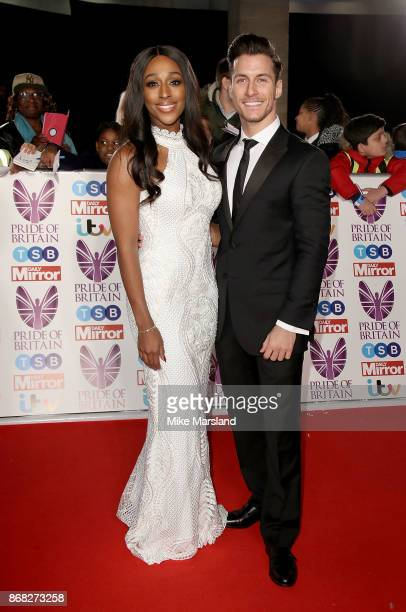Alexandra Burke and Gorka Marquez attend the Pride Of Britain Awards at Grosvenor House on October 30 2017 in London England