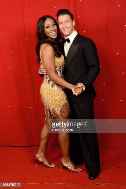 Alexandra Burke and Gorka Marquez attend the 'Strictly Come Dancing' Live photocall at Arena Birmingham on January 18 2018 in Birmingham England...