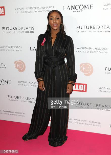 Alexandra Burke arrives at 'TEN - A Decade of Dreams' at London Palladium on September 30, 2018 in London, England. The Event is in aid of Breast...