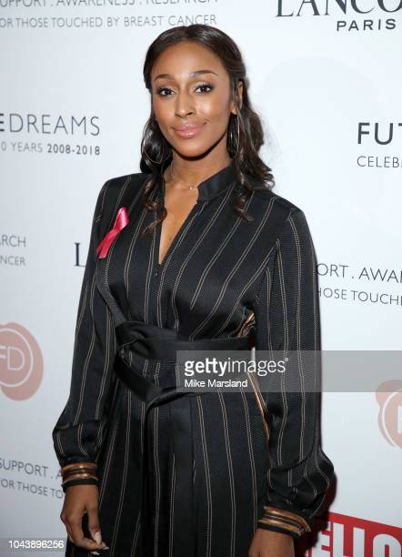 Alexandra Burke arrives at 'TEN - A Decade of Dreams♠at London Palladium on September 30, 2018 in London, England. The Event is in aid of Breast...