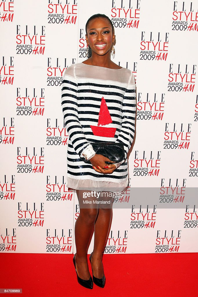 Alexandra Burke arrives at the Elle Style Awards 2009 at Big Sky Studios on February 9, 2009 in London, England.