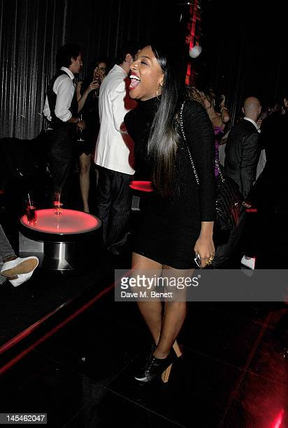 Alexandra Burke attends as W London-Leicester Square hosts an after party following the World Premiere of 'iLL Manors' the debut film by Ben Drew aka...