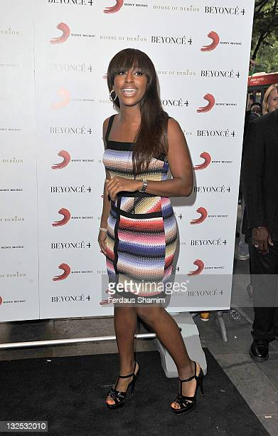 Alexandra Burke attends Beyonce's album launch and performance at Shepherds Bush Empire on June 27 2011 in London England