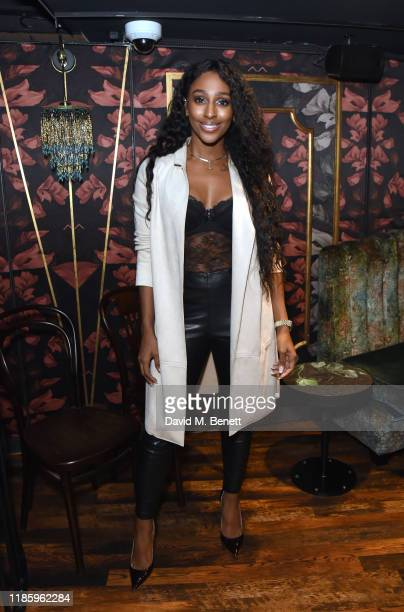 Alexandra Burke attends celebrations for Magic Mike Live's first birthday in the West End at Hippodrome Casino on November 06, 2019 in London,...