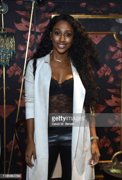 Alexandra Burke attends celebrations for Magic Mike Live's first birthday in the West End at Hippodrome Casino on November 06 2019 in London England