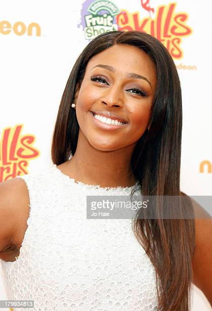 Alexandra Burke attends Nickelodeon's Fruit Shoot Skills Awards 2013 at Indigo2 at O2 Arena on September 7 2013 in London England