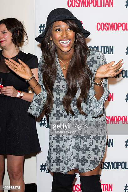 Alexandra Burke attends the Cosmopolitan #FashFest event at Battersea Evolution on September 18 2014 in London England