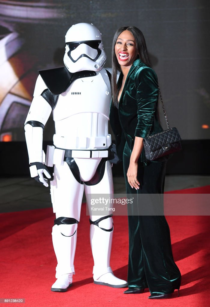 Alexandra Burke attends the European Premiere of 'Star Wars: The Last Jedi' at Royal Albert Hall on December 12, 2017 in London, England.