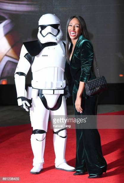 Alexandra Burke attends the European Premiere of 'Star Wars The Last Jedi' at Royal Albert Hall on December 12 2017 in London England