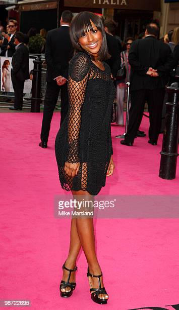 Alexandra Burke attends the Gala Premiere of 'The BackUp Plan' at the Vue Leicester Square on on April 28 2010 in London England