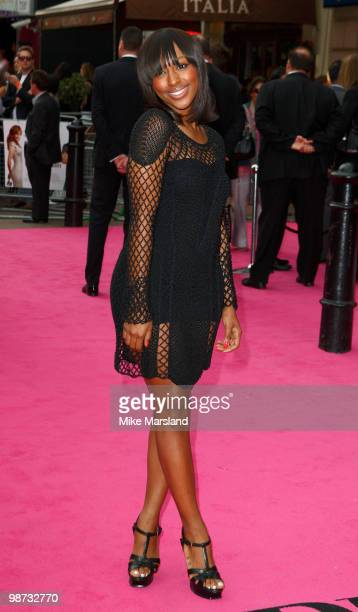 Alexandra Burke attends the Gala Premiere of The BackUp Plan at Vue Leicester Square on April 28 2010 in London England