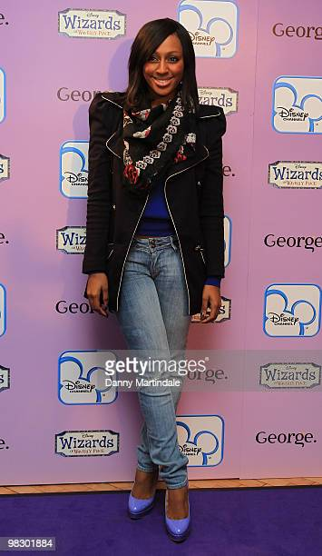 Alexandra Burke attends the launch of Disney Channel's 'Wizards of Waverly Place' fashion range on April 7, 2010 in London, England.