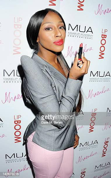 Alexandra Burke attends the launch of LIPBOOM created with Alexandra Burke by MUA Cosmetics at The Rose Club on April 11 2012 in London England