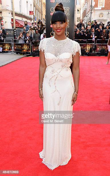 Alexandra Burke attends the Laurence Olivier Awards at The Royal Opera House on April 13 2014 in London England