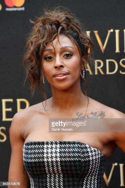 Alexandra Burke attends The Olivier Awards with Mastercard at Royal Albert Hall on April 8 2018 in London England