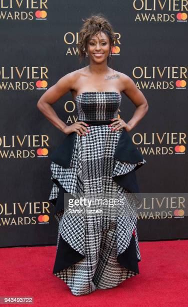 Alexandra Burke attends The Olivier Awards with Mastercard at Royal Albert Hall on April 8, 2018 in London, England.