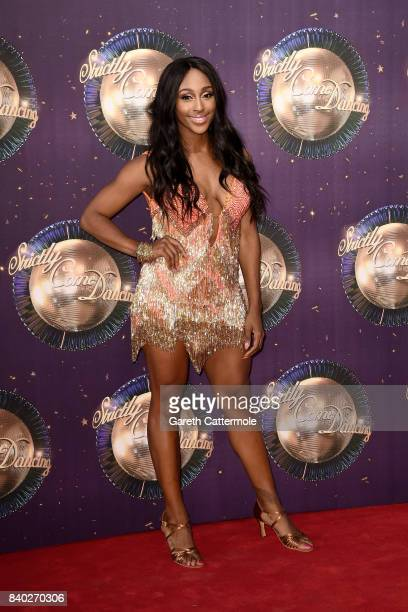 Alexandra Burke attends the 'Strictly Come Dancing 2017' red carpet launch at The Piazza on August 28, 2017 in London, England.