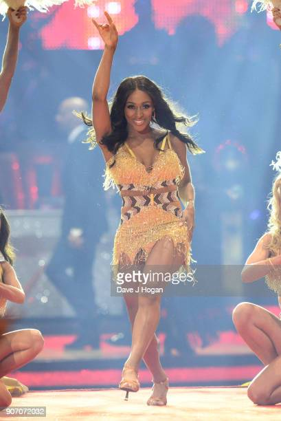 Alexandra Burke attends the 'Strictly Come Dancing' Live dress rehearsal at Arena Birmingham on January 18 2018 in Birmingham England Ahead of the...