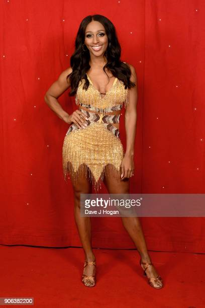 Alexandra Burke attends the 'Strictly Come Dancing' Live! photocall at Arena Birmingham, on January 18, 2018 in Birmingham, England. Ahead of the...