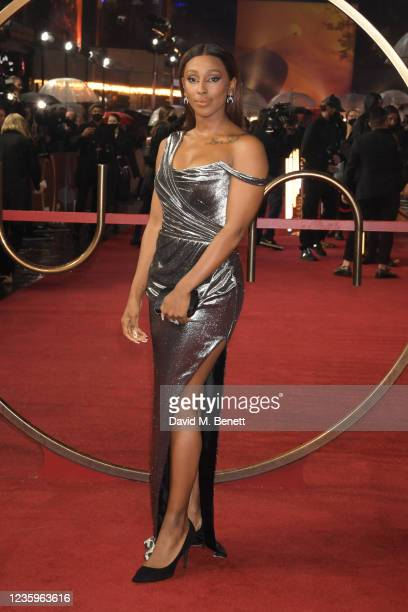 """Alexandra Burke attends the UK Special Screening of """"Dune"""" at the Odeon Luxe Leicester Square on October 18, 2021 in London, England."""