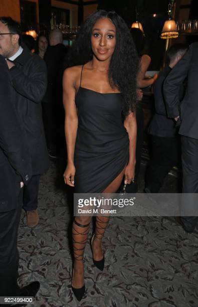Alexandra Burke attends the Universal Music BRIT Awards After-Party 2018 hosted by Soho House and Bacardi at The Ned on February 21, 2018 in London,...