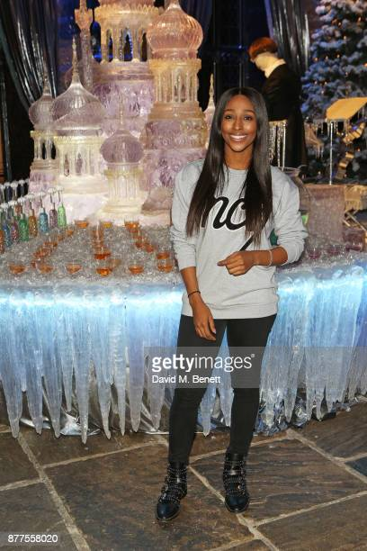 Alexandra Burke attends the VIP launch of 'Hogwarts In The Snow' at Warner Bros Studio Tour London The Making Of Harry Potter on November 22 2017 in...