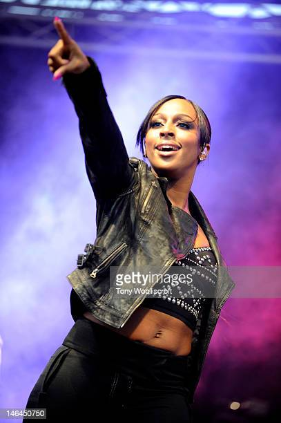Alexandra Burke attends/performs on day one of Stoke on Trent Live at Hanley Park on June 16, 2012 in Stoke on Trent, England.