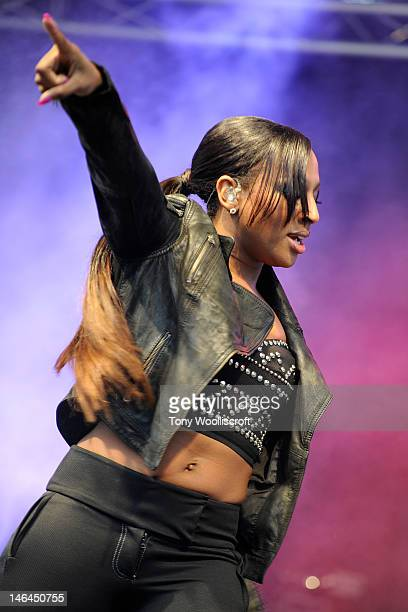 Alexandra Burke attends/performs on day one of Stoke on Trent Live at Hanley Park on June 16 2012 in Stoke on Trent England
