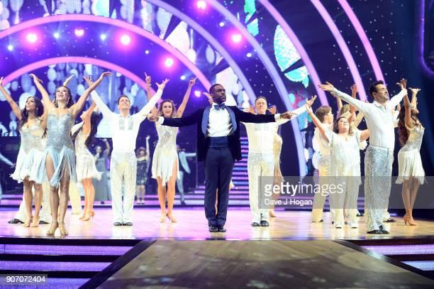 Alexandra Burke Katya Jones Gorka Marquez Luba Mushtuk host Ore Oduba Kevin Clifton Susan Calman Joe McFadden and Oti Mabuse attend the 'Strictly...