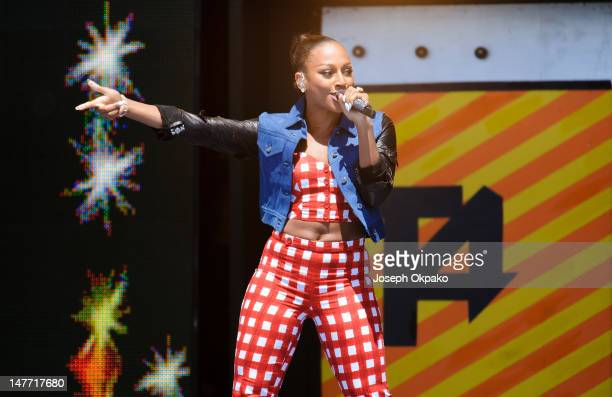 Alexandra Burke performs at T4 On The Beach on July 1 2012 in WestonSuperMare England