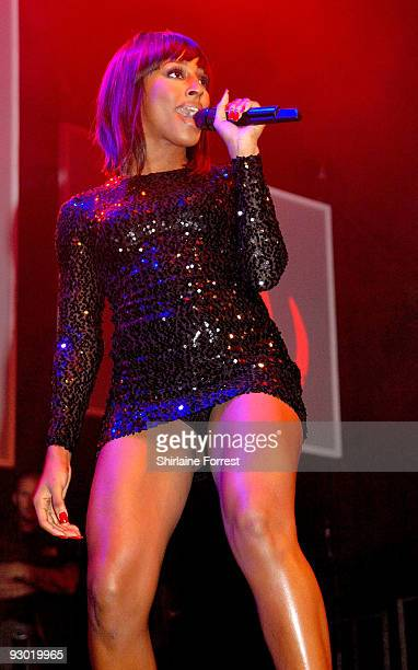 Alexandra Burke performs at the switch on of the Manchester Christmas Lights on November 12, 2009 in Manchester, England.