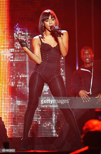 Alexandra Burke performs at the T4 Stars of 2009 at Earls Court Arena on November 29, 2009 in London, England.