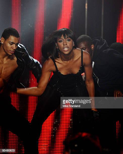 Alexandra Burke performs during the T4 Star of 2009 concert at Earls Court on November 29, 2009 in London, England.