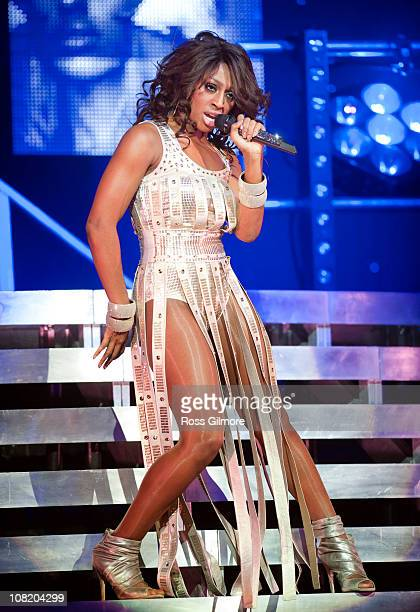 Alexandra Burke performs on stage at Clyde Auditorium on January 20 2011 in Glasgow Scotland