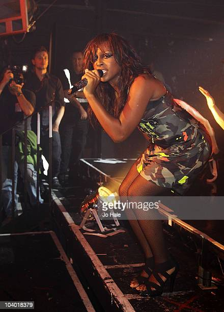Alexandra Burke performs on stage at GAY on September 11 2010 in London England