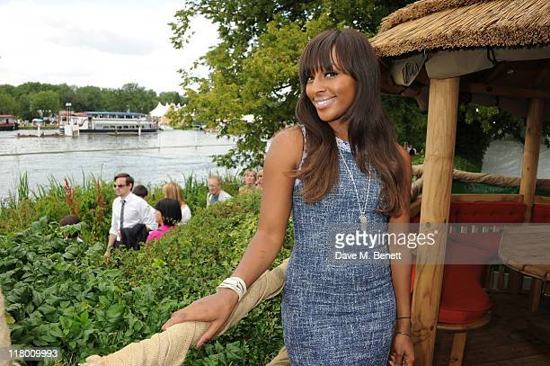 Alexandra Burke poses at Mahiki Coconut Pop Up Club during Henley Regata, on July 02, 2011 in Henley-on-Thames, United Kingdom.