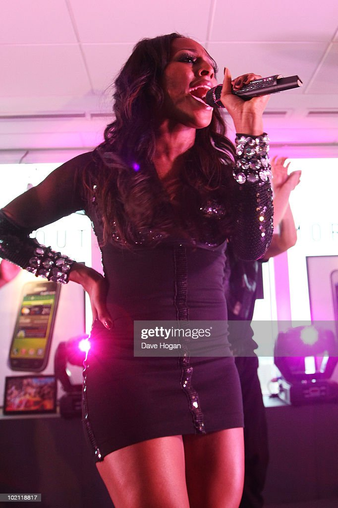 Alexandra Burke preforms at the launch of the Samsung Galaxy S Smartphone held at Altitude Bar on June 15, 2010 in London, England.