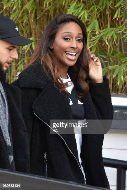Alexandra Burke seen at the ITV Studios on March 21 2018 in London England
