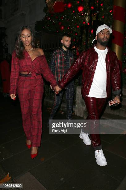 Alexandra Burke seen attending Rita Ora - album launch party at Annabel's on November 19, 2018 in London, England.