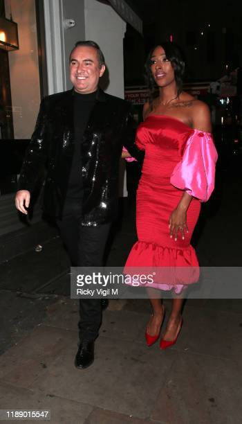 Alexandra Burke seen attending Style for Stroke Foundation The Fall Ball at Café de Paris on November 20 2019 in London England