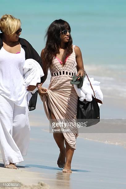 Alexandra Burke sighting on March 7 2011 in Miami Florida